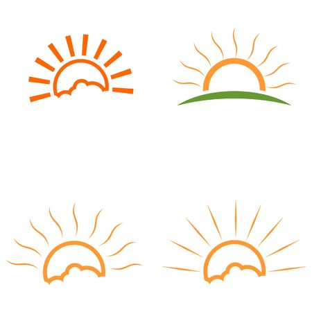sunrise logo, sunset logo vector Illustration