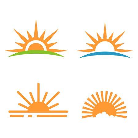 Sunrise icon, sunset icon vector illustration.
