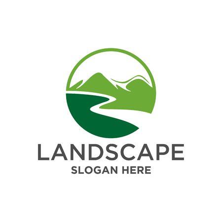 Landscape mountain Logo vector