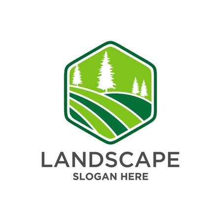 Landscape Logo vector Ilustrace