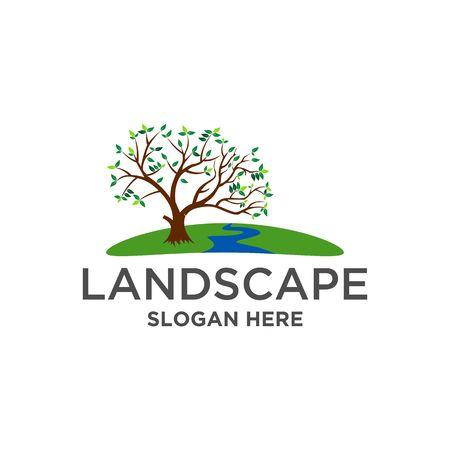 Landscape Logo vector Çizim
