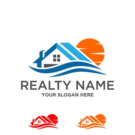Logo of the house and building vector illustration graphic design Illustration