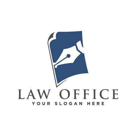 Law logo design vector illustration graphic design Ilustração