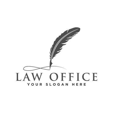 Law logo design vector illustration graphic design Çizim