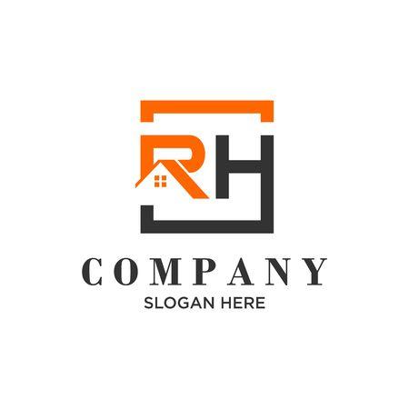 """Logo """"RH"""" iniziale sul tetto"""