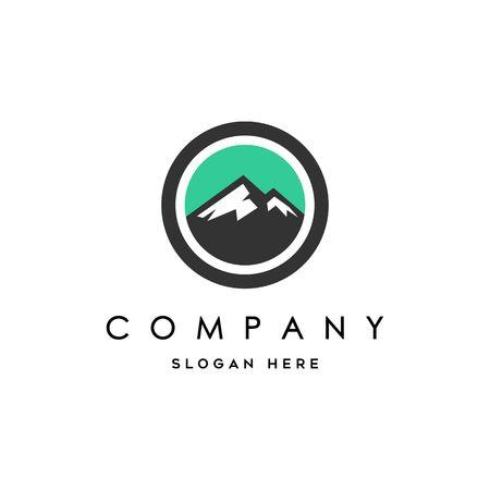 Landscape mountain Logo Illustration