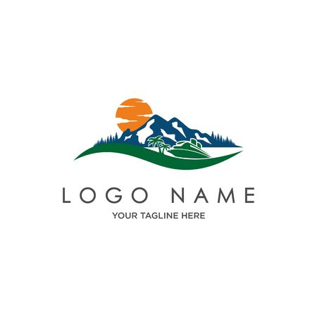 Landscape mountain Logo 矢量图像