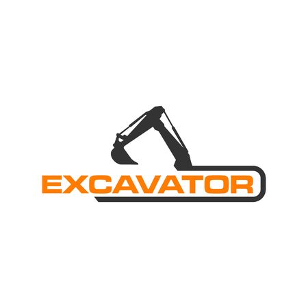 Excavator Vector Logo Template. construction Çizim