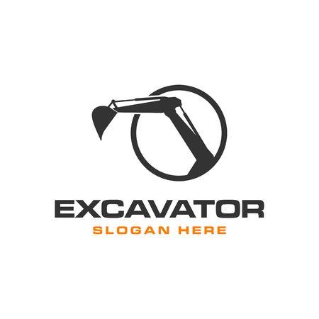 Excavator Vector Logo Template. construction