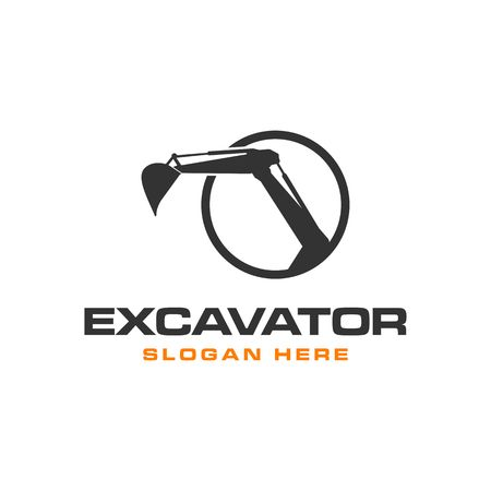 Graafmachine Vector Logo Template. bouw Logo