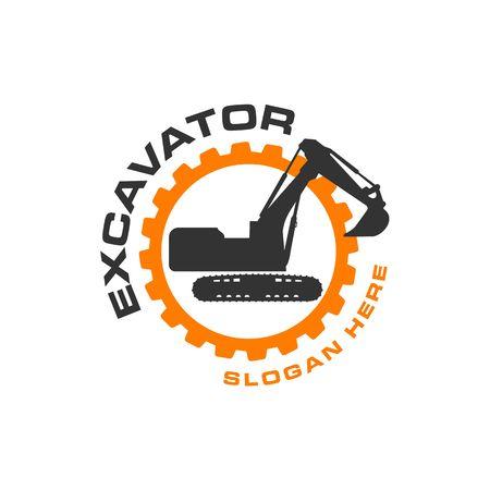 Excavator Vector Logo Template. construction 일러스트
