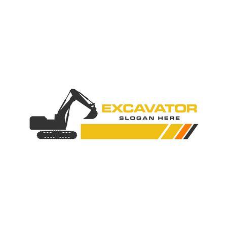 Excavator Vector Logo Template. construction Stock Illustratie