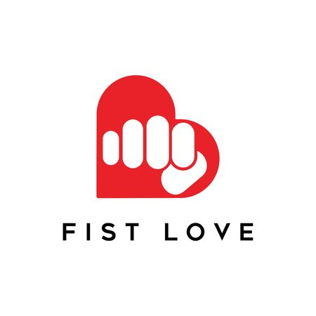 fist love logo vector