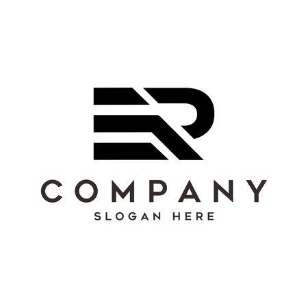 ER Logo. Letter Design Vector Logó