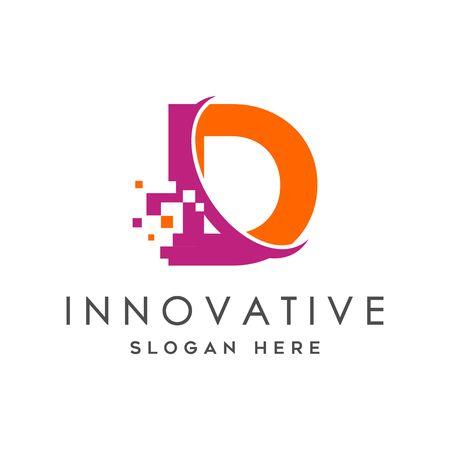 Digital Technology Letter D Logo