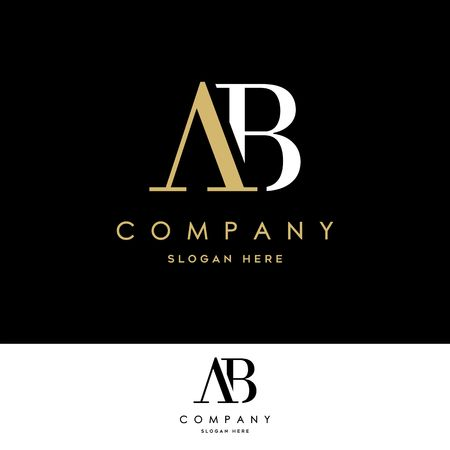 AB Logo. Letter Design Vector Illustration