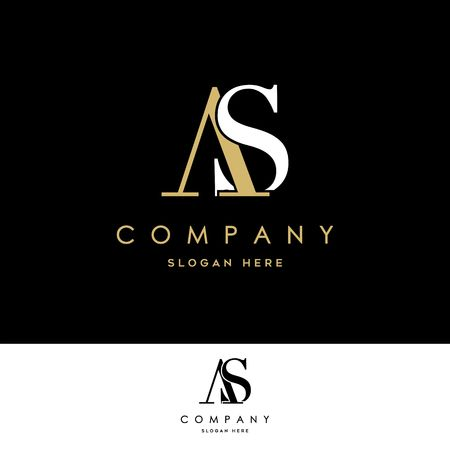AS Logo. Letter Design Vector