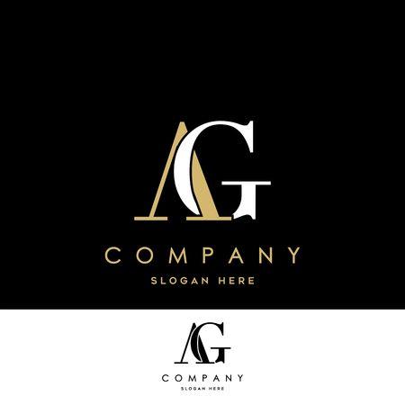 Logo AG. Vecteur de conception de lettre