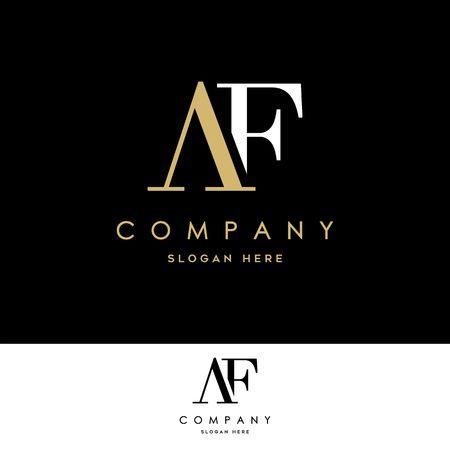 AF Logo. Letter Design Vector