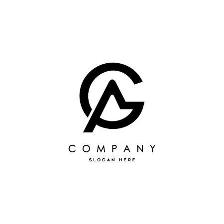 추상 문자 AG 아이콘 디자인입니다. 스톡 콘텐츠 - 94461828