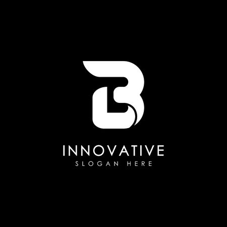 Abstract letter LB logo ontwerp
