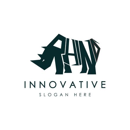 Abstract rhino logo