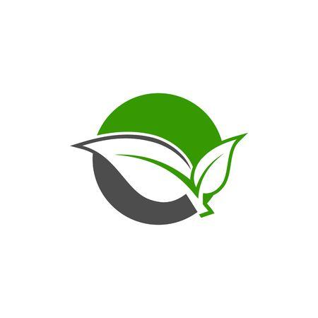 Tree logo, green nature logo, Vector logo template