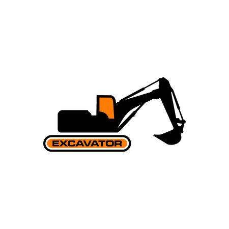 Excavator Vector Logo Template. construction Illustration
