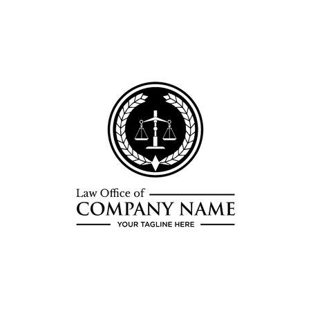 법률 회사 로고, 법률 사무소 로고, 변호사 로고 일러스트