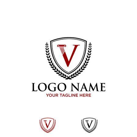 V icon design
