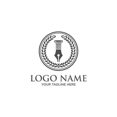 Law Firm symbol Illusztráció