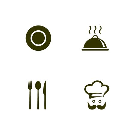 Restaurant icon template desing