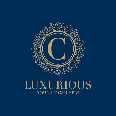 Crests logo, Hotel logo, luxury letter monogram vector logo design, Fashion brand identity, Vector logo template Ilustração