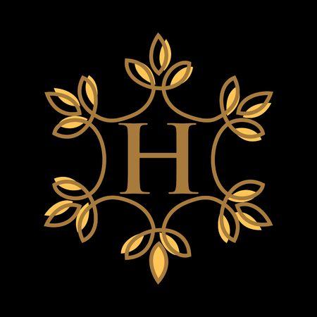 H letter vector logo template, luxury letter monogram vector logo design, Fashion brand identity