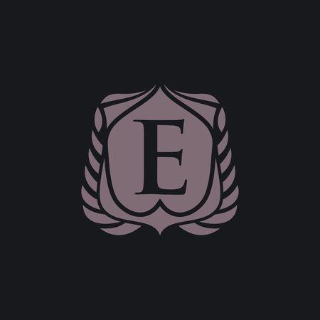 E letter emblem