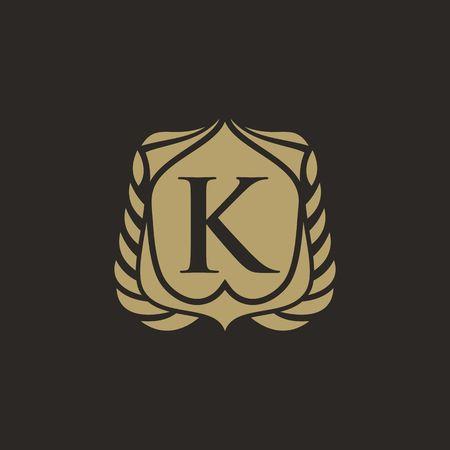 K letter emblem Ilustração