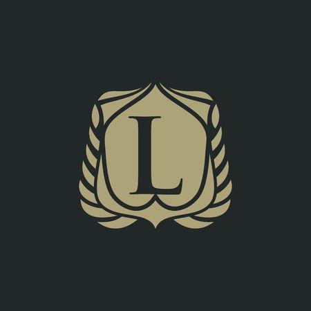 L letter emblem