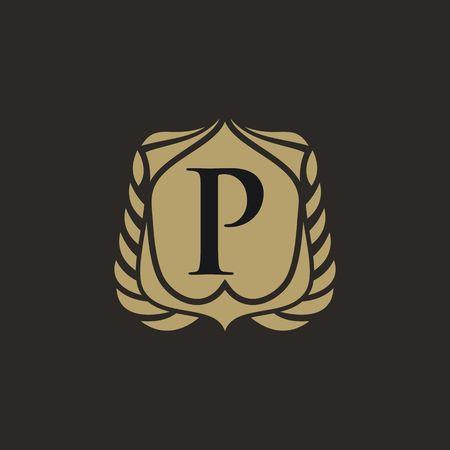 P letter emblem