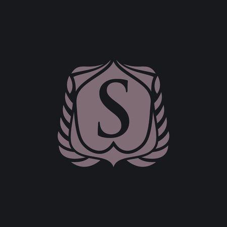 S letter emblem
