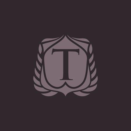 T letter emblem Ilustração
