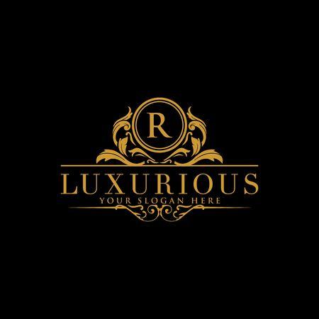 Logo Crests, logo hotelu, projekt logo wektor luksusowy list monogram, tożsamość marki mody, szablon logo wektor Logo