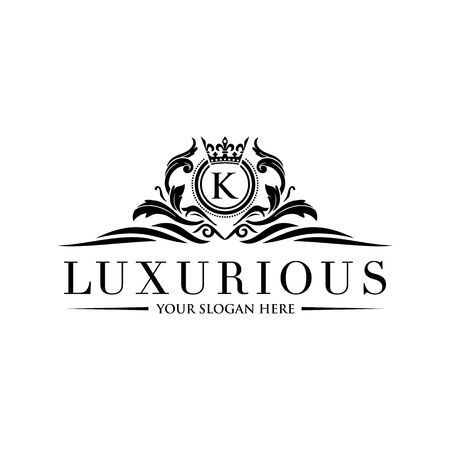 Luxury Logo template vector for Restaurant, Royalty, Boutique, Cafe, Hotel, Heraldic, Jewelry, Fashion and other vector illustration Imagens - 98014919