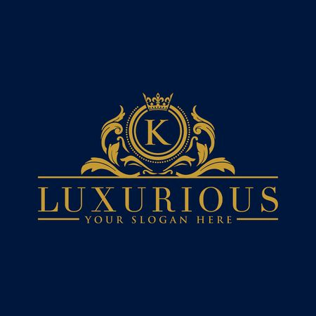 Luxury Logo template vector for Restaurant, Royalty, Boutique, Cafe, Hotel, Heraldic, Jewelry, Fashion and other vector illustration Imagens - 98014916