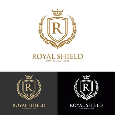 Luxury Logo template for vector for Restaurant, Royalty, Boutique, Cafe, Hotel, Heraldic, Jewelry, Fashion and other vector illustration
