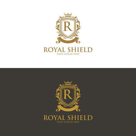 Luxury Logo template vector for Restaurant, Royalty, Boutique, Cafe, Hotel, Heraldic, Jewelry, Fashion and other vector illustration Imagens - 98014920