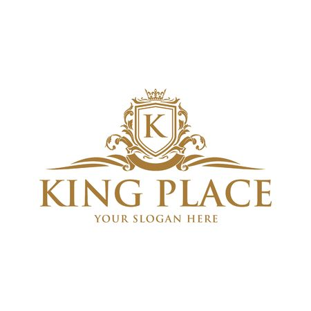 Luxury Logo template vector for Restaurant, Royalty, Boutique, Cafe, Hotel, Heraldic, Jewelry, Fashion and other vector illustration Imagens - 98014927