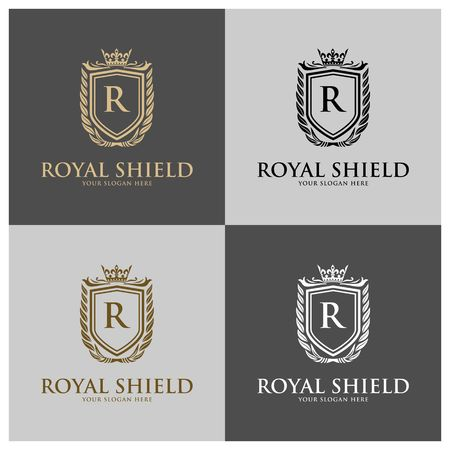 Luxury Logo template vector for Restaurant, Royalty, Boutique, Cafe, Hotel, Heraldic, Jewelry, Fashion and other vector illustration Imagens - 98014929