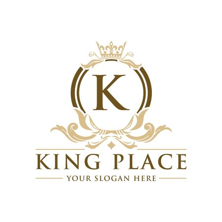 Luxury Logo template vector for Restaurant, Royalty, Boutique, Cafe, Hotel, Heraldic, Jewelry, Fashion and other vector illustration Imagens - 98014931