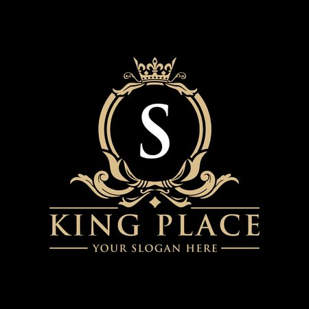 Luxury Logo template vector for Restaurant, Royalty, Boutique, Cafe, Hotel, Heraldic, Jewelry, Fashion and other vector illustration Imagens - 98014932