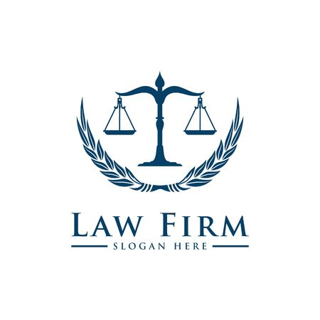 Luxury Law logo. Law Office. Lawyer services. Vector logo template